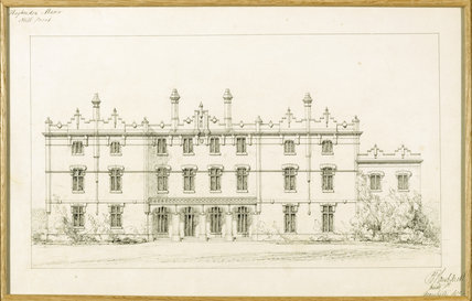 PROPOSED NORTH ELEVATION OF HUGHENDEN MANOR 1862 by E.B. Lamb