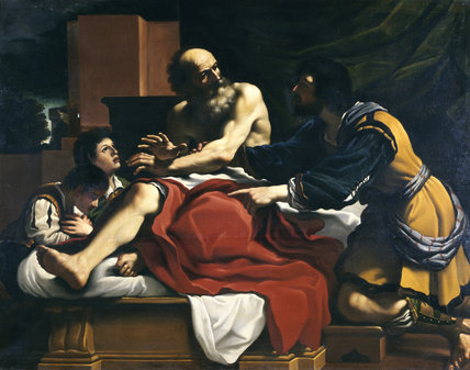 JACOB, EPHRAIM AND MANASSEH after Guercino at Ickworth