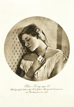 Portrait of Ellen Terry, age 17, by Julia Margaret Cameron (1815-1879), 1865, at Smallhythe Place