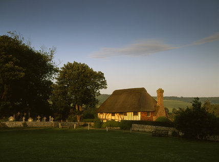 The Front of Alfriston Clergy House in East Sussex