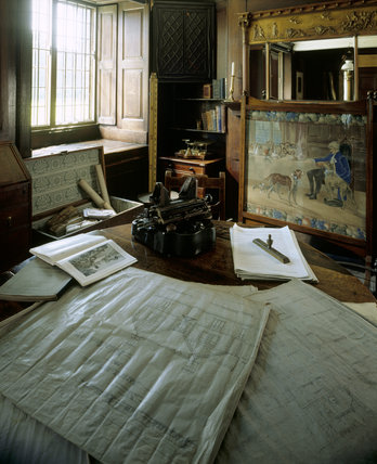 An interior view of the Agent's Office at Erddig