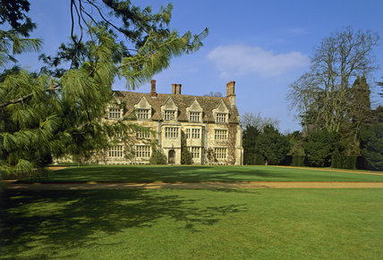 The exterior of Anglesey Abbey, Cambridgeshire