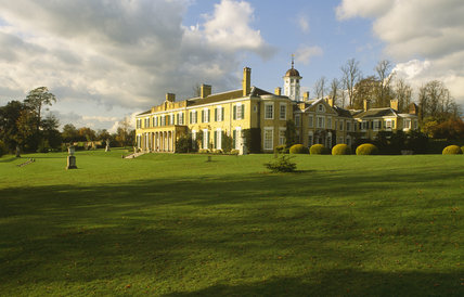 This shows the exterior of Polesden Lacey, Surrey