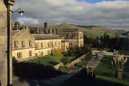 An exterior view of Ilam Hall, Staffordshire