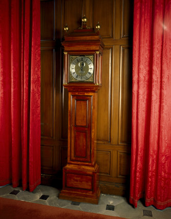 The longcase clock by George Graham in the Great Hall at Dunham Massey