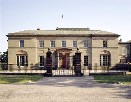The N. elevation of Tatton built in the neo-classical style between 1790 and 1812