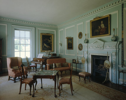 The Blue Drawing Room at Melford Hall