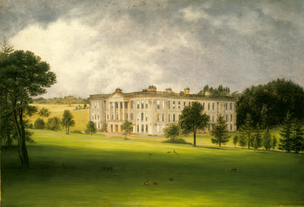 SOUTH EAST VIEW OF CALKE ABBEY, late C19th painting,  English School