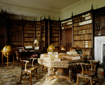 View of the Library at Felbrigg Hall, Norfolk