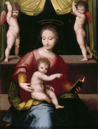 THE MADONNA AND CHILD attributed to Andreo Piccinelli, known as Andrea del Brescianino (fl