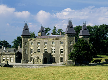 The east front of Newton House, the Victorian-Gothic mansion in Dinefwr Park