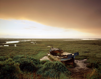 A view of the creeks north of Blakeney Village at Blakeney Point