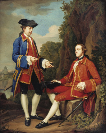 FIFTH EARL OF STAMFORD AND SIR HENRY MAINWARING by Teresa Concordia Mengs 1725-1808