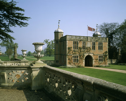 The Gatehouse at Charlecote Park, seen across the forecourt