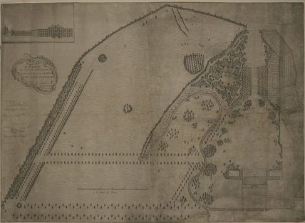 DESIGN FOR THE GARDEN AT WIMPOLE HALL c1752 by Robert Greening (d. 1758)