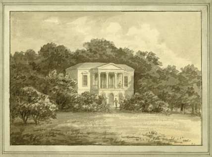 PROPOSAL FOR THE REMODELLING OF THE HILL HOUSE, 1801 by Humphry Repton, Watercolour