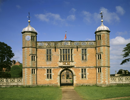 The Gatehouse at Charlecote, built of beautiful brick