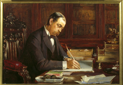 LORD RANDOLPH CHURCHILL by Edwin Ward (fl.1883-c.1927)