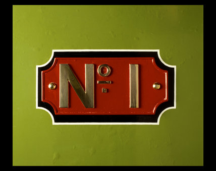 Brass name plate from locomotive