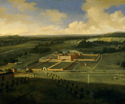 BIRDS EYE VIEW OF DUNHAM MASSEY by Adriaen Van Diest c. 1697