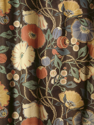 Close up of Eton Rural Fabric found in The Parlour of Mr Straw's House