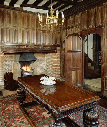 View of the Panelled Dining Room at Paycockes