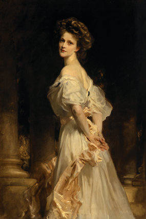 NANCY ASTOR, portrait, exhibited at the RA in 1909, by John Singer Sargent, 1856-1925