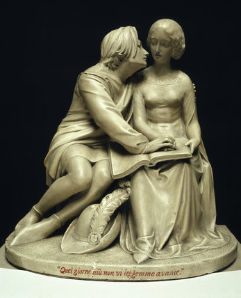'Paolo and Francesca', a plaster statue by Alexander Munro (1825-1871)