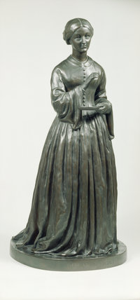 A Copeland Parian ware statuette of Florence Nightingale after the original by T