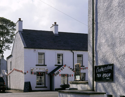 A view of McBride's bar in the village at Cushenden, Northern Ireland