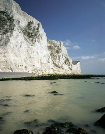Thr south-east corner of England where the rounded outline of the North Downs, meet the sea in the spectacular chalk, White Cliffs of Dover
