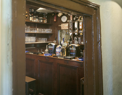 The interior of McBride's Bar in the village
