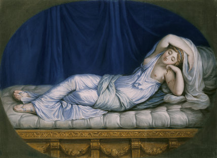 SLEEPING NYMPH by William Hoare at Stourhead