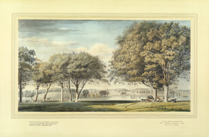 WATERCOLOUR OF WINDSOR GREAT PARK, 1721 by Thomas Sandby