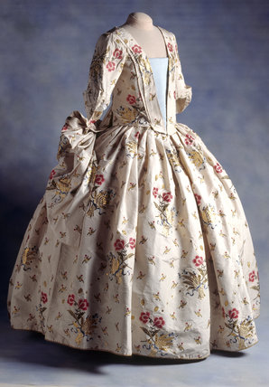 A Mantua Court Dress on display