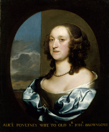 PORTRAIT OF ALICIA POULTNEY, WIFE TO `OLD' SIR JOHN BROWNLOW, by Gerard Soest