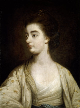 PORTRAIT OF EMMA VERNON, by Sir Joshua Reynolds, post-conservation at Hanbury Hall