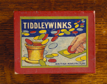 Detail of parlour game - tiddleywinks - in the Drawing Room at Sunnycroft