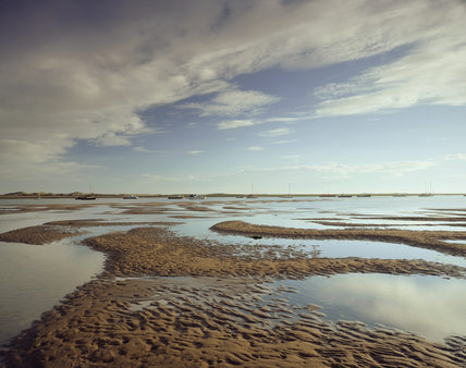 A view of the intertidal zone on the north edge of Morston Marsh at Blakeney Point