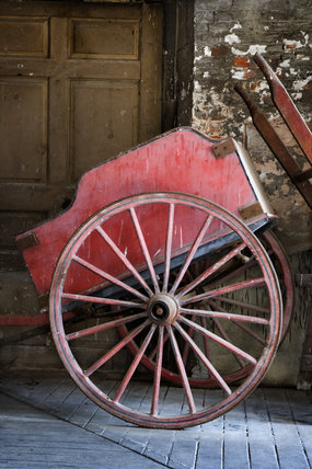 Horse cart on display at Dunham Massey, Cheshire