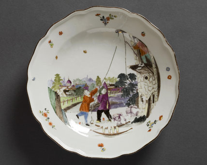 Piece from the Earl of Jersey Meissen porcelain service at Osterley Park