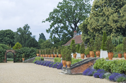 Terracotta pots on the Terrace at Ham House, Richmond-upon-Thames