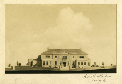 Unidentified Drawing of House