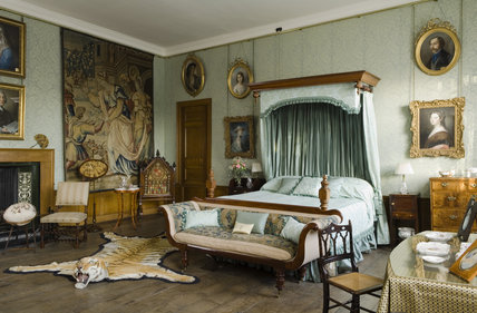 The Tapestry Bedroom at Coughton Court, Warwickshire