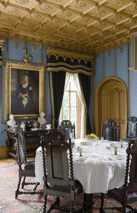 The Dining Room at Hughenden Manor, Buckinghamshire, home of prime minister Benjamin Disraeli between 1848 and 1881