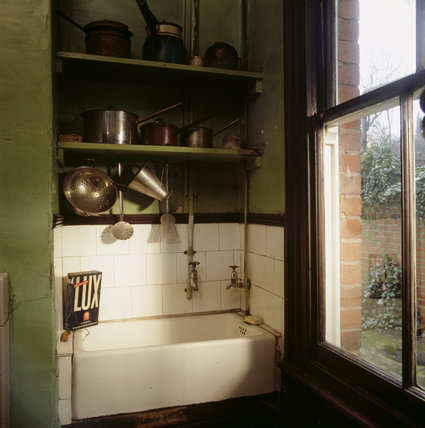 Partial view of the kitchen in Mr Straw's House