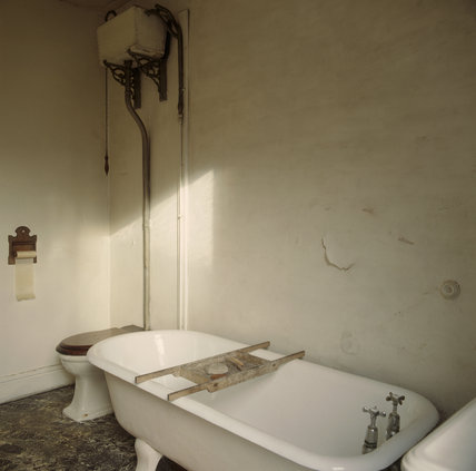 A view of the bathroom in Mr Straw's House