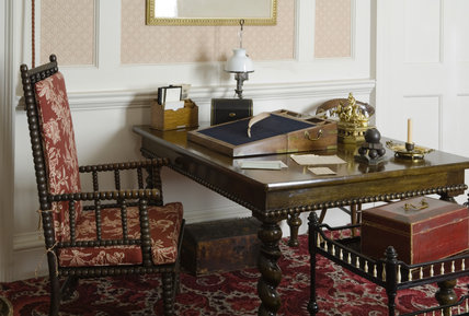 The Study used by Disraeli for his political work and his later novels, at Hughenden Manor, Buckinghamshire, home of prime minister Benjamin Disraeli between 1848 and 1881