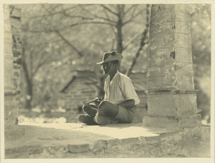 Ghurka Soldier, seated