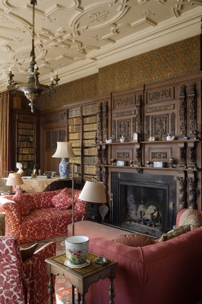 The Library in the new house at Scotney